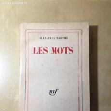 Libros de segunda mano: LES MOTS, JEAN-PAUL SARTRE. Lote 144788765