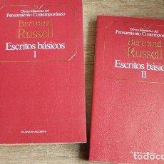 Libros de segunda mano: ESCRITOS BÁSICOS. BERTRAND RUSSELL. OBRAS MAESTRAS DEL PENSAMIENTO CONTEMPORÁNEO.. Lote 145015826