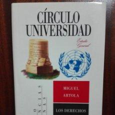 Libros de segunda mano: LOS DERECHOS DEL HOMBRE - ARTOLA, MIGUEL. Lote 146262153
