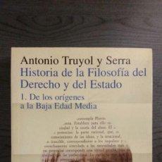 Libros de segunda mano: HISTORIA DE LA FILOSOFÍA DEL DERECHO Y DEL ESTADO. 1. DE LOS ORÍGENES A LA BAJA EDAD MEDIA. Lote 146305502