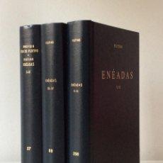 Libros de segunda mano: PLOTINO. ENEÁDAS I-VI. TRES TOMOS. BIBLIOTECA CLÁSICA GREDOS. 1992. Lote 147631310