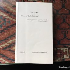 Livros em segunda mão: FILOSOFÍA DE LA HISTORIA. VOLTAIRE. Lote 147671769