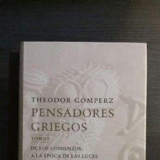 Libros de segunda mano: PENSADORES GRIEGOS. Lote 147735902