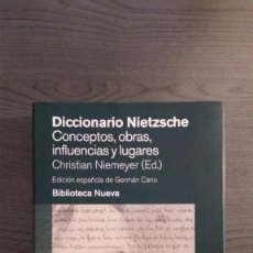 Libros de segunda mano: DICCIONARIO NIETZSCHE. Lote 147751930