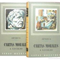 Libros de segunda mano: 1955 - SÉNECA: CARTAS MORALES A LUCILIO - OBRA COMPLETA EN 2 TOMOS - FILOSOFÍA - ESTOICISMO - ROMA . Lote 147936310
