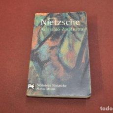 Libros de segunda mano: ASÍ HABLÓ ZARATUSTRA - FRIEDRICH NIETZSCHE - FIB. Lote 148208070