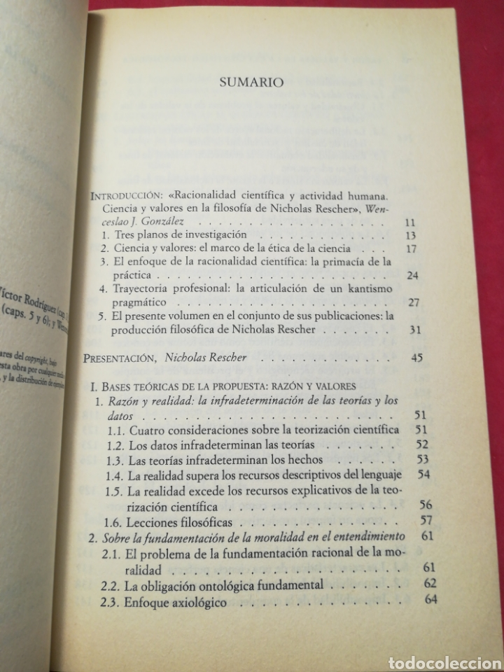 Libros de segunda mano: Razón y valores en la Era científico-tecnológica - Nicolás Rescher - Paidós, 1999 - Foto 5 - 148221962
