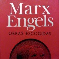 Libros de segunda mano: MARX ENGELS OBRAS ESCOGIDAS, PROGRESO, 1977. Lote 148832626