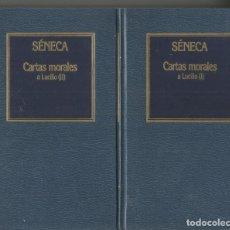 Libros de segunda mano - SENECA. CARTAS MORALES A LUCILIO I Y II. 2 TOMOS. COMPLETO. ORBIS - 151603414