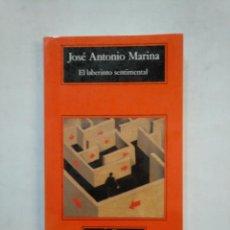 Libros de segunda mano: EL LABERINTO SENTIMENTAL. - JOSÉ ANTONIO MARINA. COMPACTOS ANAGRAMA Nº 215. TDK367. Lote 151718174