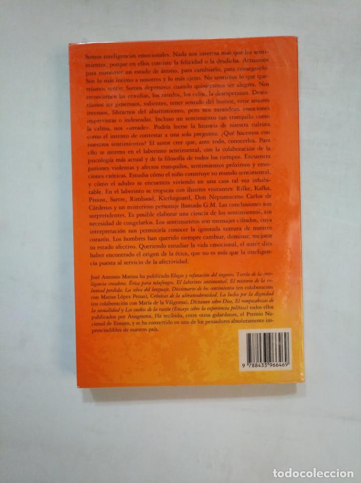 Libros de segunda mano: EL LABERINTO SENTIMENTAL. - JOSÉ ANTONIO MARINA. COMPACTOS ANAGRAMA Nº 215. TDK367 - Foto 2 - 151718174