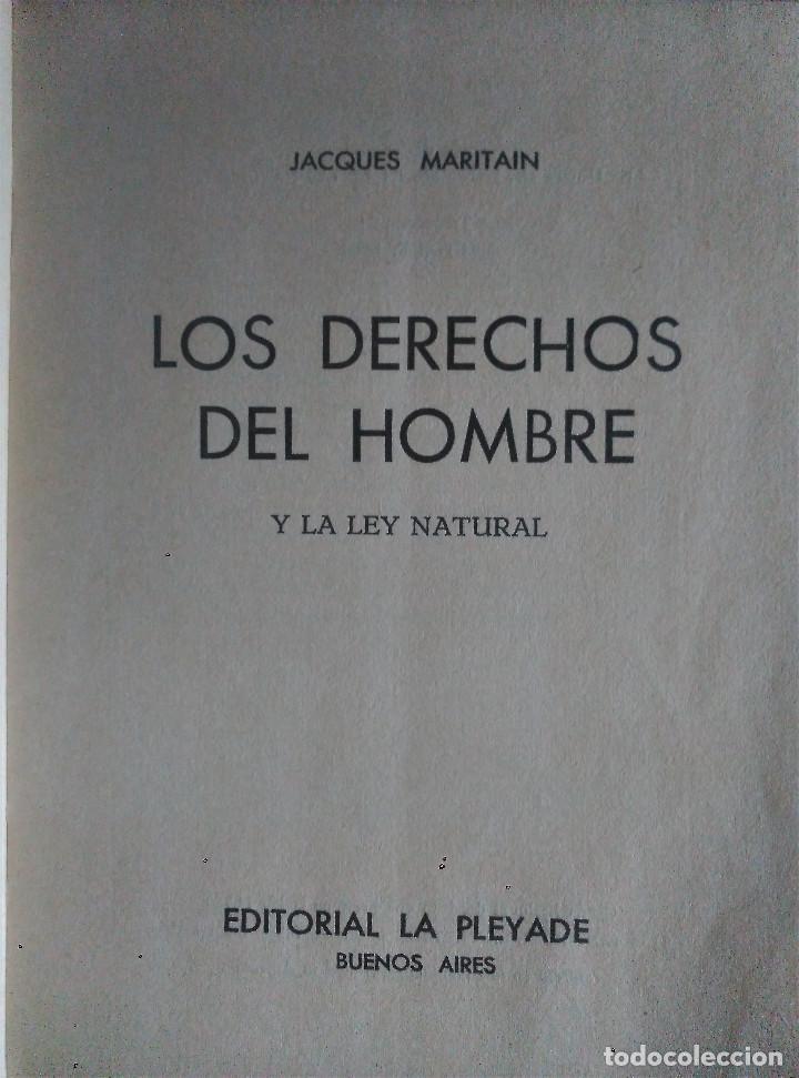 Libros de segunda mano: Los Derechos del Hombre, Maritain, 1972 - Foto 2 - 152300846