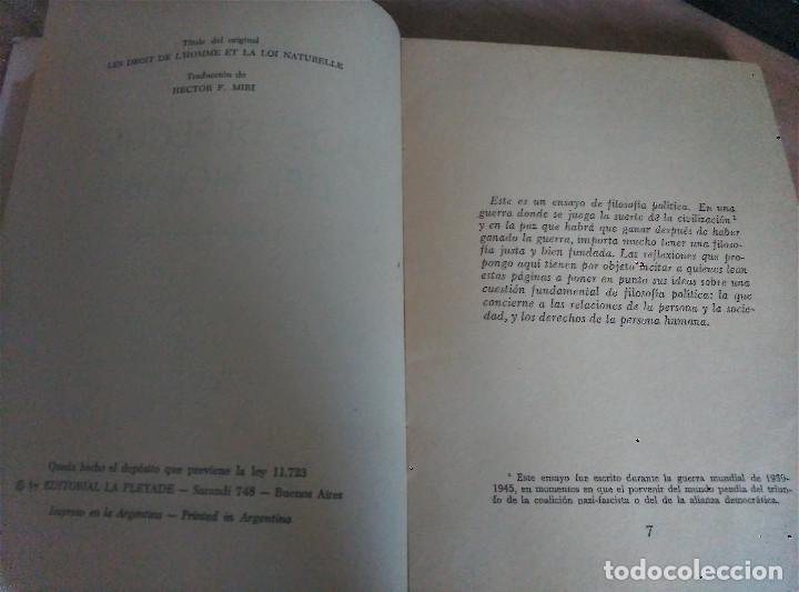 Libros de segunda mano: Los Derechos del Hombre, Maritain, 1972 - Foto 3 - 152300846