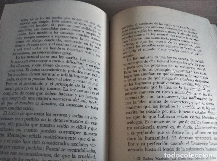 Libros de segunda mano: Los Derechos del Hombre, Maritain, 1972 - Foto 5 - 152300846