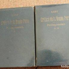 Libros de segunda mano: CRÍTICA DE LA RAZÓN PURA. SEGUIDO DE LOS PROLEGÓMENOS A TODA METAFÍSICA FUTURA. KANT (EMMANUEL). Lote 153333746