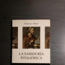 Libros de segunda mano: LA SABIDURÍA PITAGÓRICA.. Lote 153872166