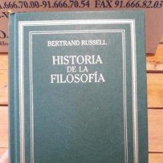 Libros de segunda mano: BERTRAND RUSSELL - HISTORIA DE LA FILOSOFÍA - RBA 2005 - GRANDES OBRAS DE LA CULTURA. Lote 153923542