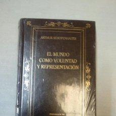 Libros de segunda mano: EL MUNDO COMO VOLUNTAD Y REPRESENTACIÓN - SCHOPENHAUER, ARTHUR NUEVO. Lote 154697334