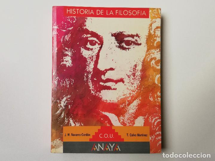 HISTORIA DE LA FILOSOFIA COU ANAYA (Libros de Segunda Mano - Pensamiento - Filosofía)