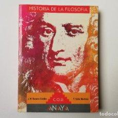 Libros de segunda mano: HISTORIA DE LA FILOSOFIA COU ANAYA. Lote 192234295