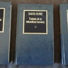 Libri di seconda mano: DAVID HUME. TRATADO DE LA NATURALEZA HUMANA EN 3 VOLUMENES. EDICIONES ORBIS. Lote 154963766