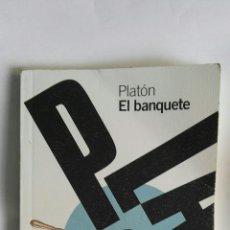 Libros de segunda mano: PLATÓN EL BANQUETE ALIANZA EDITORIAL. Lote 154997041