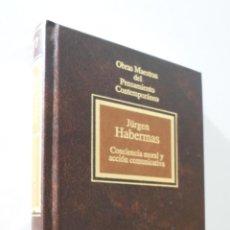 Libros de segunda mano: CONCIENCIA MORAL Y ACCIÓN COMUNICATIVA - HABERMAS, JÜRGEN. Lote 155773410