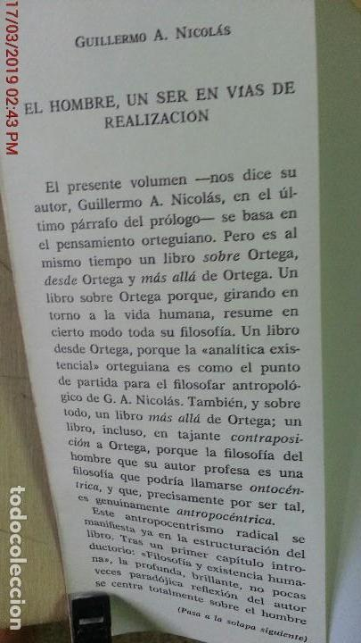 Libros de segunda mano: EL HOMBRE UN SER EN VÍAS DE REALIZACIÓN - GUILLERMO A. NICOLÁS - ED. GREDOS - AÑO 1974 - 1ªEDICIÓN - Foto 2 - 155854922