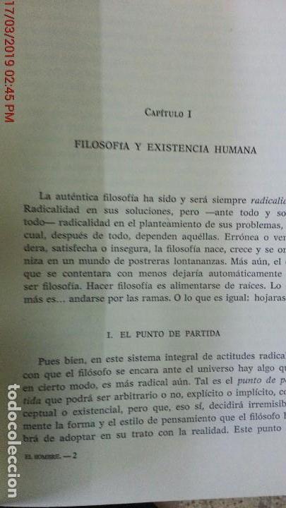 Libros de segunda mano: EL HOMBRE UN SER EN VÍAS DE REALIZACIÓN - GUILLERMO A. NICOLÁS - ED. GREDOS - AÑO 1974 - 1ªEDICIÓN - Foto 4 - 155854922