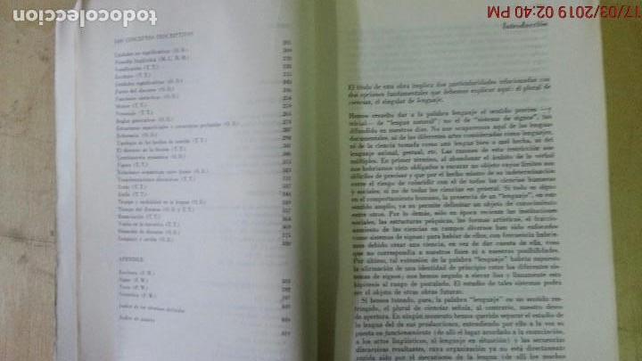Libros de segunda mano: DICCIONARIO ENCICLOPÉDICO DE LAS CIENCIAS DEL LENGUAJE-OSWALD DUCROT-TRVETAN TODOROV-AÑO 1974 - Foto 4 - 155856290