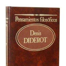 Libros de segunda mano: PENSAMIENTOS FILOSÓFICOS - DENIS DIDEROT. SARPE. Lote 156757114