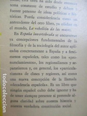 Libros de segunda mano: ESPAÑA INVERTEBRADA -- JOSE ORTEGA Y GASSET -- REVISTA DE OCCIDENTE - 1959 - Foto 5 - 156766978