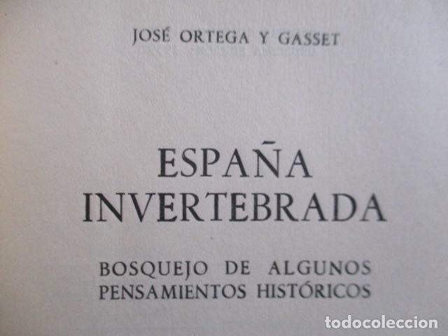 Libros de segunda mano: ESPAÑA INVERTEBRADA -- JOSE ORTEGA Y GASSET -- REVISTA DE OCCIDENTE - 1959 - Foto 7 - 156766978
