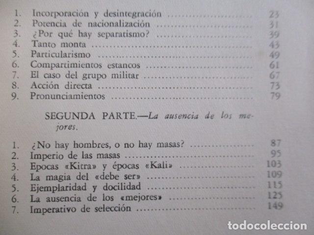 Libros de segunda mano: ESPAÑA INVERTEBRADA -- JOSE ORTEGA Y GASSET -- REVISTA DE OCCIDENTE - 1959 - Foto 12 - 156766978