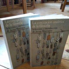 Libros de segunda mano: LA CIUDAD CONCEPCIÓN ANALÍTICA DE LA FILOSOFÍA. I Y II. JAVIER MUGUERZA. Lote 156863573