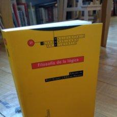 Libros de segunda mano: FILOSOFÍA DE LA LÓGICA. EDITORIAL TROTTA. Lote 156868462