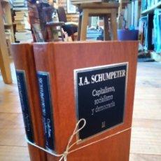 Libros de segunda mano: CAPITALISMO, SOCIALISMO Y DEMOCRACIA. J.A. SCHUMPETER. Lote 156882930