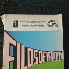 Libros de segunda mano: FILOSOFÍA II MODULO 1 PONTIFICIA UNIVERSIDAD JAVERIANA 1ª ED 1985 - LIBRO ESCASO-. Lote 157902866