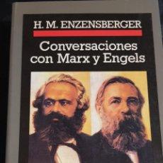 Libros de segunda mano: CONVERSACIONES CON MARX Y ENGELS. ENZENSBERGER, HANS MAGNUS.CRONICAS ANAGRAMA. Lote 157970578