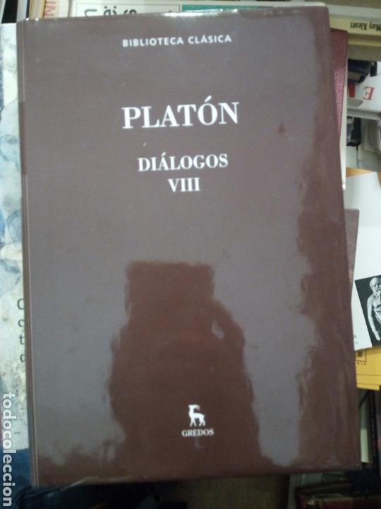 PLATÓN, DIÁLOGOS VIII, ED. GREDOS (Libros de Segunda Mano - Pensamiento - Filosofía)
