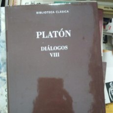 Gebrauchte Bücher - Platón, Diálogos VIII, ed. Gredos - 158365396