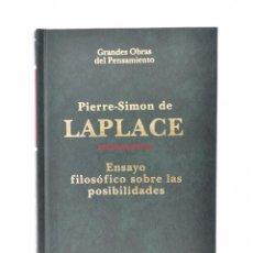 Libros de segunda mano: ENSAYO FILOSÓFICO SOBRE LAS PROBABILIDADES - LAPLACE, PIERRE-SIMON DE. Lote 158628045