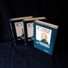 Libros de segunda mano: FRANCISCO Mª AROUET (VOLTAIRE) - DICCIONARIO FILOSOFICO - 3 TOMOS - EDICIONES DAIMON 1976. Lote 158861486
