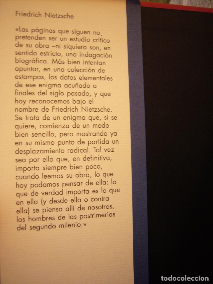 Libros de segunda mano: MIGUEL MOREY: FRIEDRICH NIETZSCHE. UNA BIOGRAFÍA (CÍRCULO DE LECTORES, 1994) MUY BUEN ESTADO - Foto 4 - 158943658