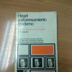 Libros de segunda mano: HEGEL Y EL PENSAMIENTO MODERNO SEMINARIO DIRIGIDO POR JEAN HYPPOLITE SIGLO VEINTIUNO 1973. Lote 158958170