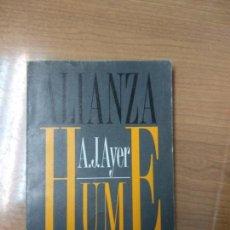 Libros de segunda mano: HUME. A.J.AYER. ALIANZA EDITORIAL. Lote 159153334