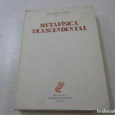 Libros de segunda mano: GÓMEZ CAFFARENA, JOSÉ: METAFÍSICA FUNDAMENTAL (REVISTA DE OCCIDENTE) - N 4. Lote 159404530