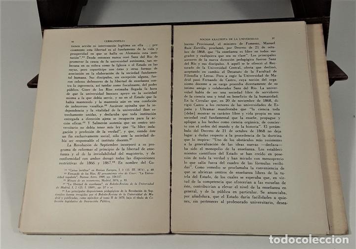 Libros de segunda mano: EL KRAUSISMO ESPAÑOL. JUAN LÓPEZ. EDIT. F. C. ECONÓMICA. MÉXICO. 1956. - Foto 5 - 159495178