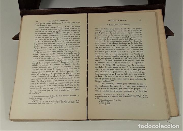 Libros de segunda mano: EL KRAUSISMO ESPAÑOL. JUAN LÓPEZ. EDIT. F. C. ECONÓMICA. MÉXICO. 1956. - Foto 6 - 159495178