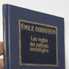 Libros de segunda mano: LAS REGLAS DEL MÉTODO SOCIOLÓGICO - ÉMILE DURKHEIM. Lote 159502974